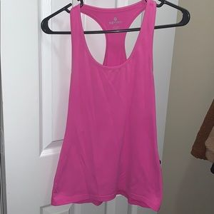 90 Degree by Reflex Fitted Spandex Tank Pink